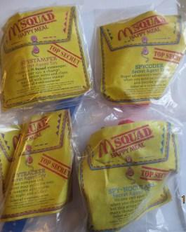 1992 M Squad Secret Agent McDonalds Happy Meal Toy Complete Set Of 4