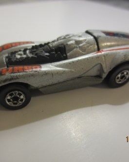 Vintage Hot Wheels 1984 Bangster Turbo  Silver Nice condition