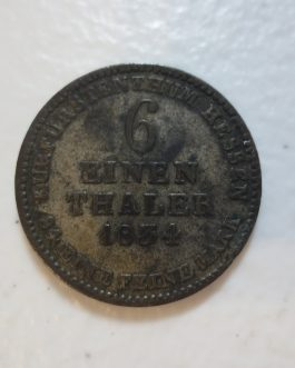 Germany Altdeutschland 6 EINEN THALER 1834 Hessen Silver rare