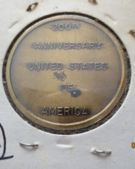 1″ 1976 Bicentennial Mount Rushmore high relief Bronze medal nice