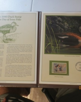 1990 Postal Commemorative society Duck Stamp First day issue nice
