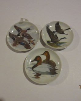 3 piece set Natures Heritage Jim Foote Lee Leblanc collectors mini plates