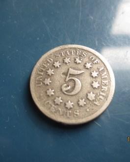 Rare 1868 Shield Nickel VG condition nice