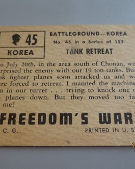 Rare Original 1950 Topps  Freedom's War cards #45 high grade nice