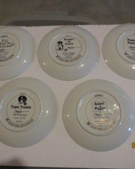 5 piece set Franklin Mint ASPCA James Killen collectors plates w coa nip