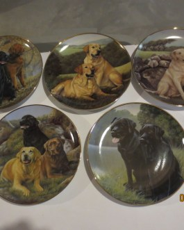 5 piece set Franklin Mint Faithful Labs Nigel Hemming collectors plates w coa nip b