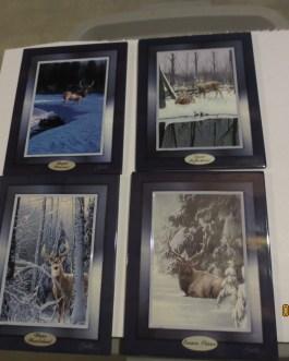 4 piece set Bradford Exchange Woodland Encounters collector plates Dan Smith w coa
