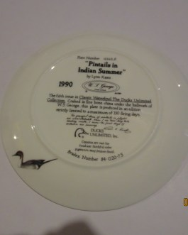 1990 Ducks Unlimited Pintails summer Lynn Kaatz collector plates w coa