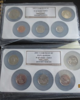 2003-S Clad Proof Set NGC PF 69 ULTRA CAMEO 10 coins b