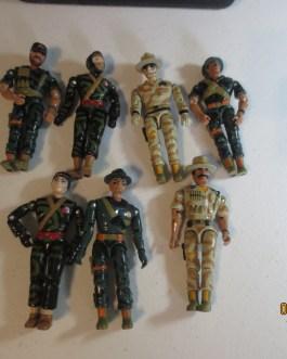 7 Original 1980's 90s Lanard the Corps action figures nice