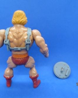 1981 MOTU HE-MAN Mattel Masters of the Universe Rubber Soft Head Figure  w shield