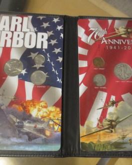 Pearl Harbor 70th Anniversary Coin Set 90% Silver Dime Quarter Half Dollar