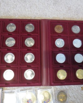 70+ piece medal, coin & token collection many neat items