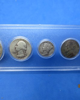 1944 Silver year set Walking Half Washington Quarter Mercury dime & more d