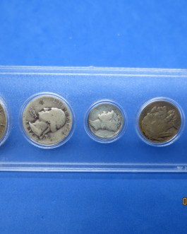 1936 Silver year set Walking Half Washington Quarter Mercury dime & more
