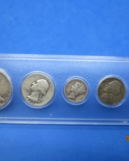 1942 Silver year set Walking Half Washington Quarter Mercury dime & more