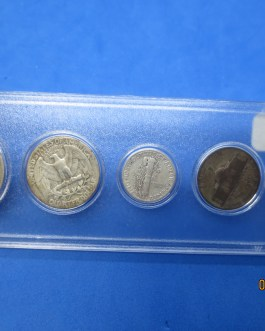 1944 Silver year set Walking Half Washington Quarter Mercury dime & more