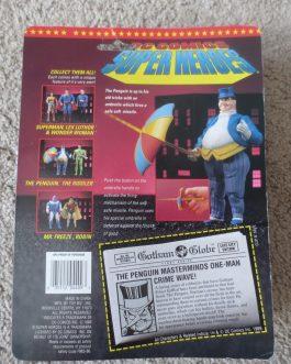 1989 Toy Biz DC Super Heroes PENGUIN with Missile Firing Umbrella MOC