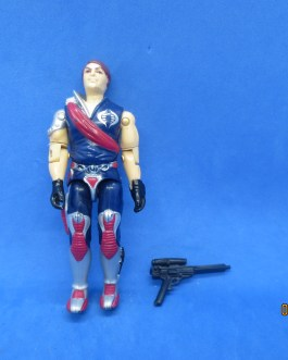 VINTAGE 1985 G.I. JOE TOMAX CRIMSON GUARD COMMANDER COBRA FIGURE W GUN SOLID