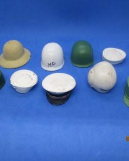 1964 vintage lot 9 gi joe helmets & hats w pith helmet