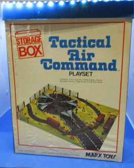 Rare 100% COMPLETE MARX TACTICAL AIR COMMAND STORAGE BOX PLAYSET #4106 1977