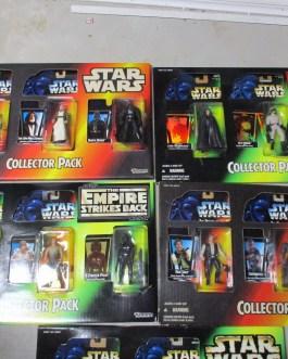5 Star Wars Collector's figure packs 15 different nip Darth Han Luke & More