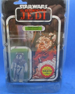 STAR WARS ROTJ CHIEF CHIRPA VINTAGE SEALED ON CARD 65 BACK 1983 EWOK