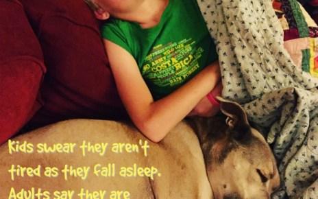 Kids win the sleeping game