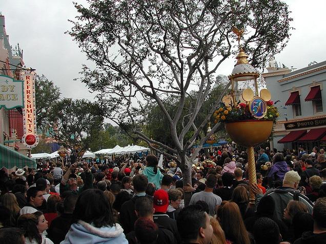 Disneyland's 50th crowds