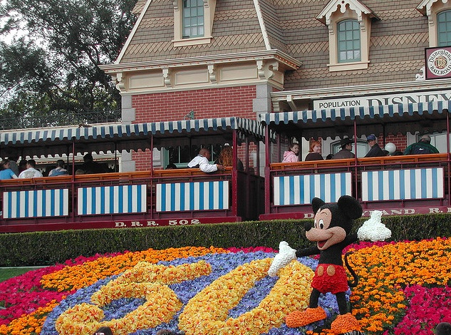 Disneyland's 50th flowers