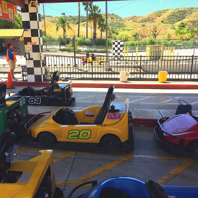 Race cars at Kia Six Flags Event