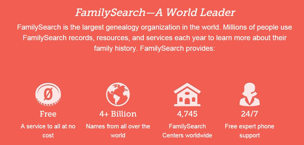 FamilySearch about banner