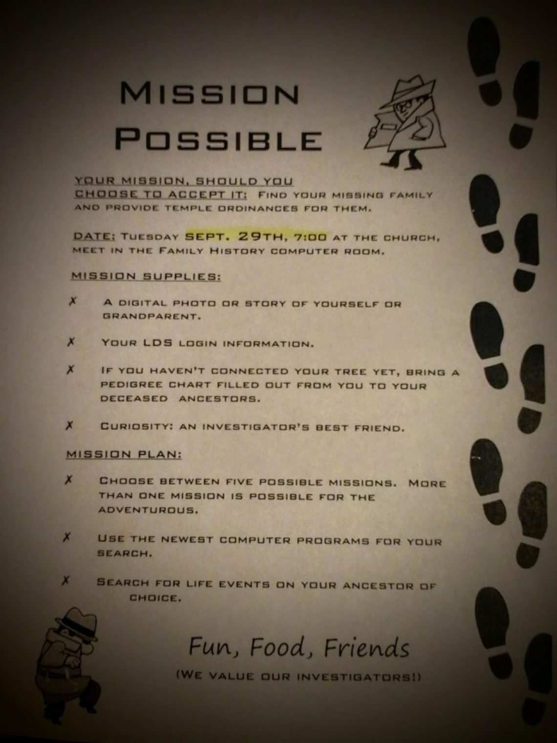 Mission Possible flyer