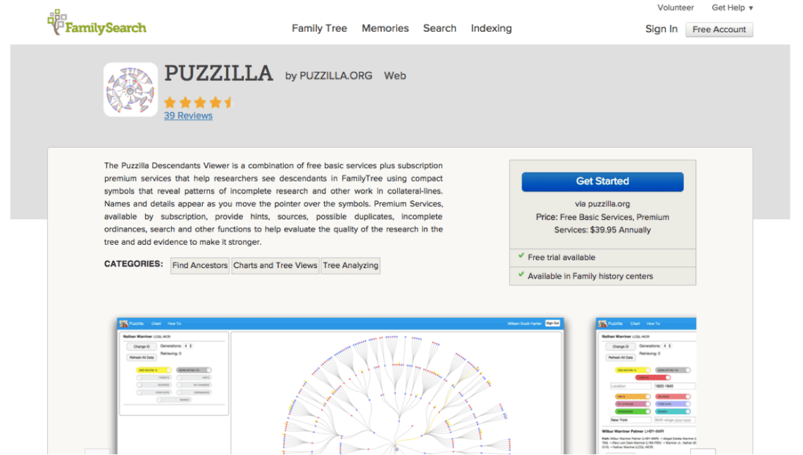 puzzilla app page