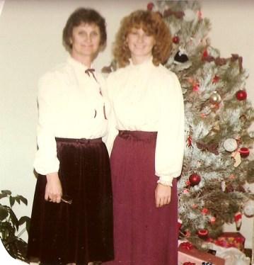 Mom and Diana Christmas 1979