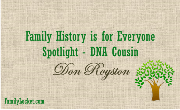 DNA cousin don royston
