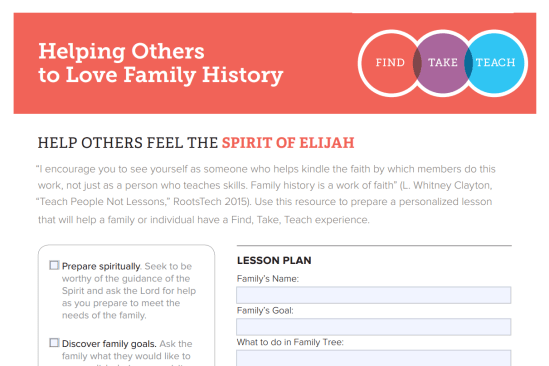 Helping others do family history