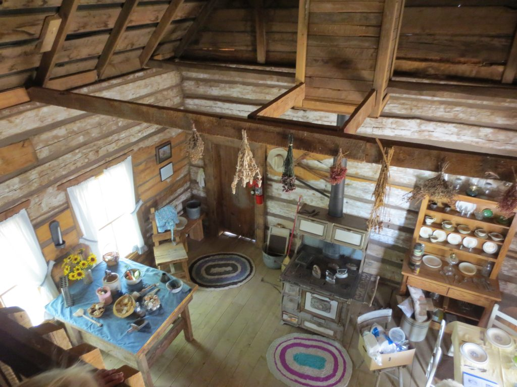 Interior of the Margaret Ann McCleve Hancock cabin