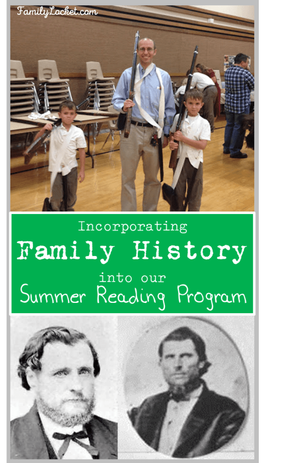 Incorporating family history into our summer reading program