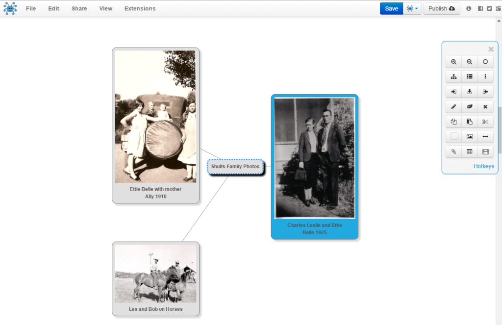 adding photos to mind map nodes