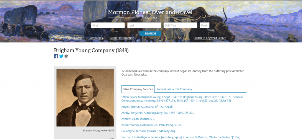brigham young company 1848
