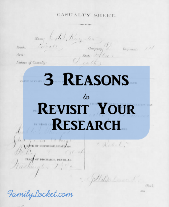3 Reasons to Revisit Your Research