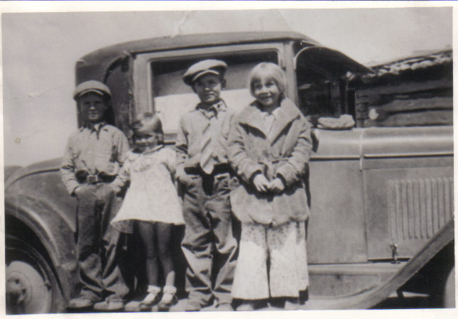 Bob, Helen, C.H. Shults and cousin Billie
