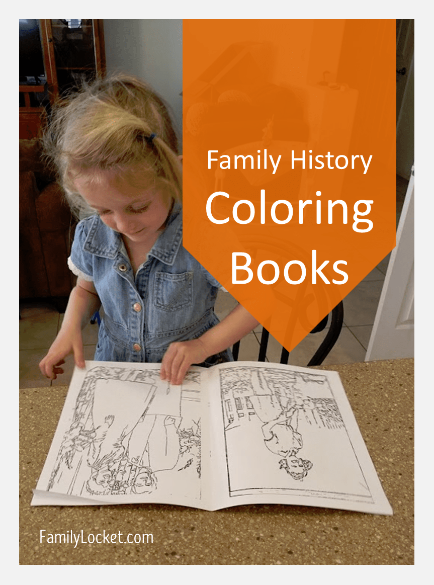 Family History Coloring Books with ReallyColor – Family Locket