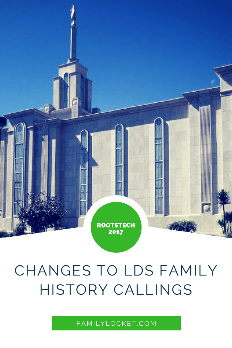 Changes to LDS family history callings discussed at #RootsTech2017