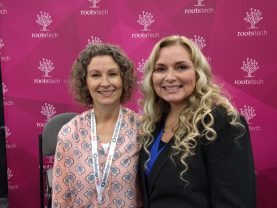 Diana Elder and Cece Moore at RootsTech 2017 DNA