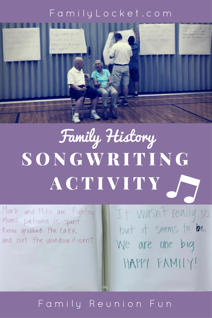 Family History Songwriting Activity: Reunion Fun