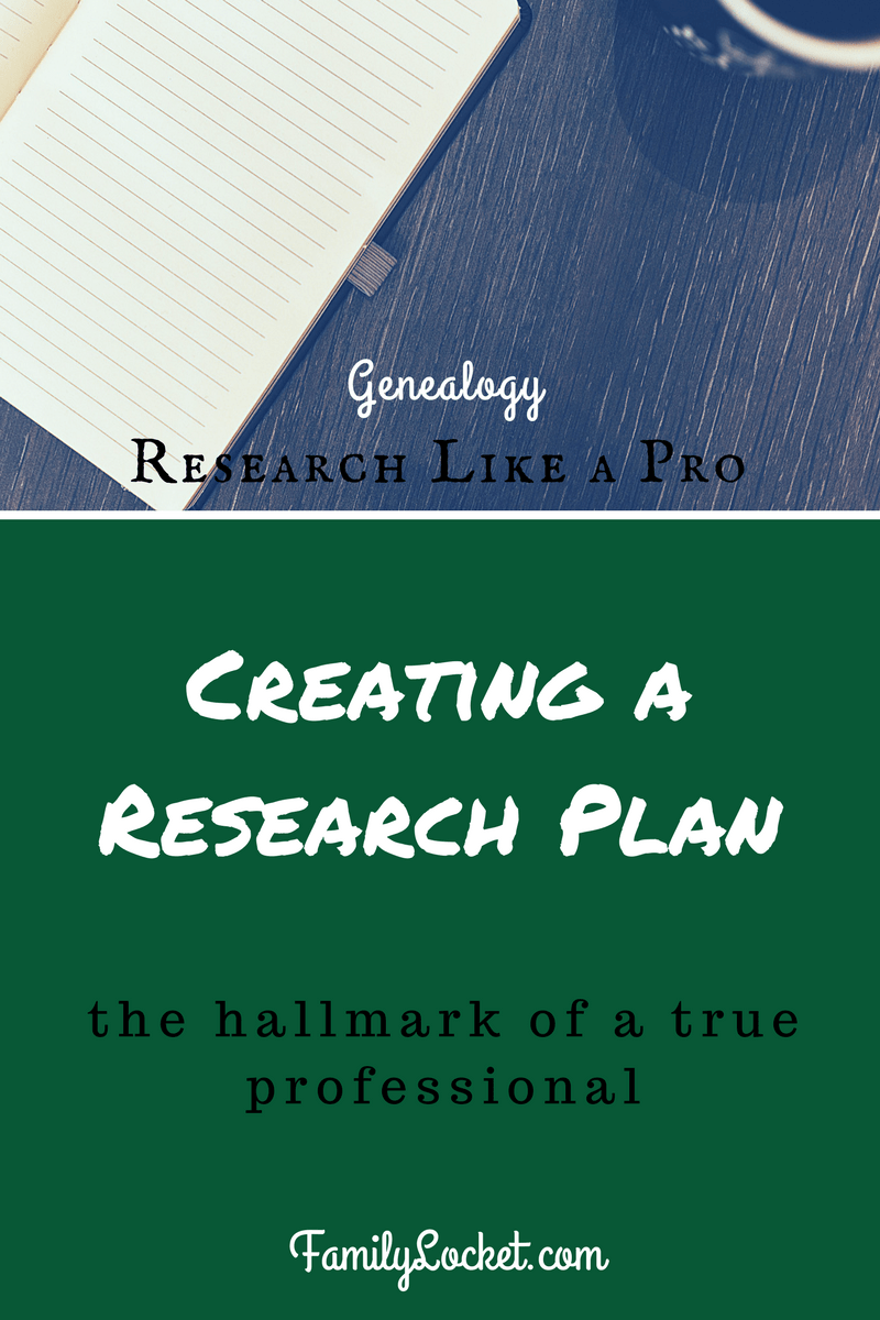Research Like a Pro, Part 4: What's the Plan?