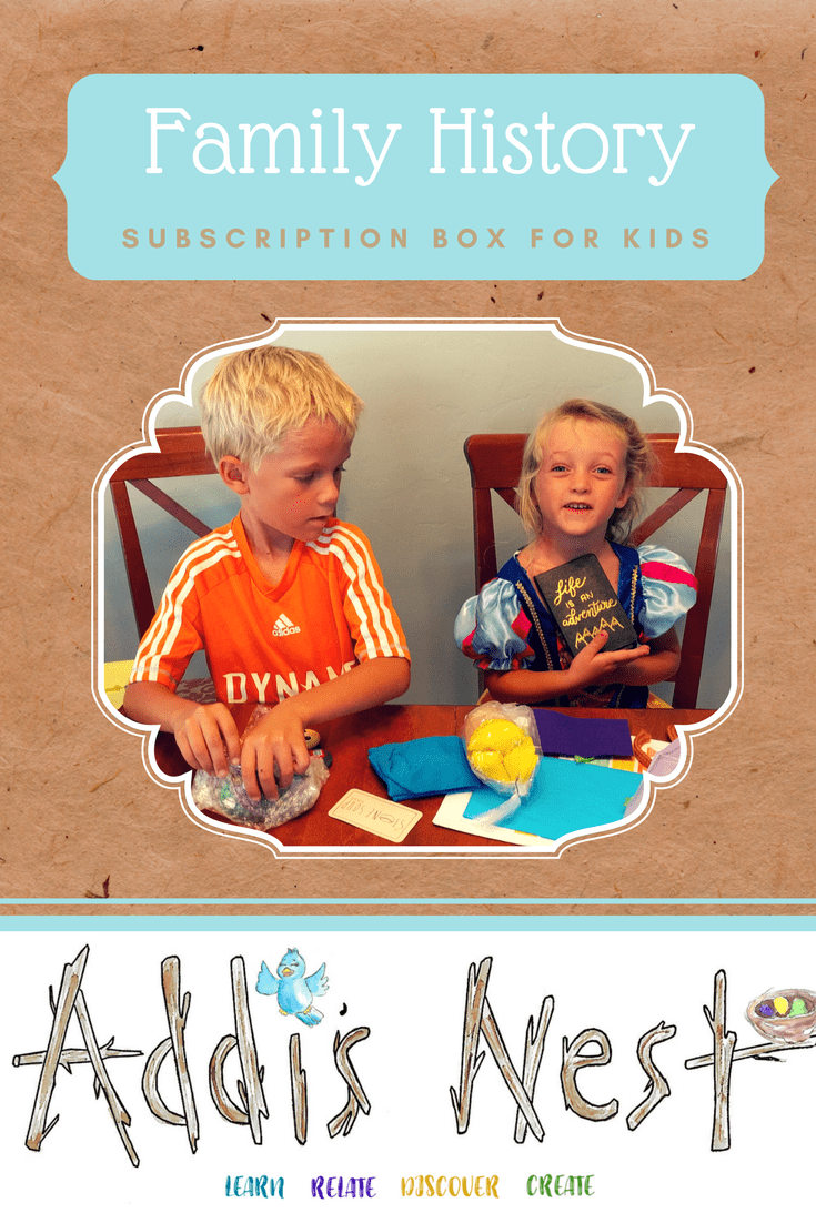 Family History Subscription Box for Kids – Addi's Nest!