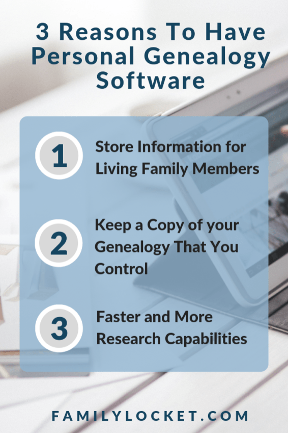 List of reasons to have personal genealogy software